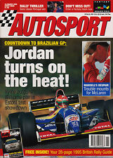 Autosport 16 March 1995 -  McLaren, Mansell, Damon Hill, Schumacher, Colin McRae