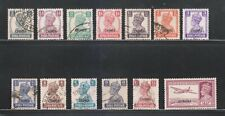 INDIA CHAMBA STATE 1942-47, 3P to 14An. SG108-120 (13V) USED COMPLETE SET RARE.