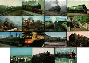 Collection of 15 NEW Locomotive Steam Train Railway Postcards (Job Lot LOCO 100)