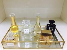 Vintage Glass Brass Cake Tray Cupcakes Perfume Jewelry Display 20x30x5.5cm