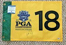 JASON DAY SIGNED 2015 PGA CHAMPIONSHIP WHISTLING STRAITS FLAG BECKETT CERT
