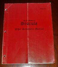 Williams Pinball Original Dracula WPC Schematic Manual 1993 BSD