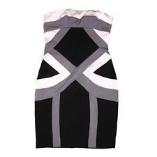 C Luce Dress S Gray Black Colorblock Strapless Party Cocktail