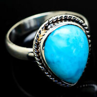 Larimar 925 Sterling Silver Ring Size 9 Ana Co Jewelry R8983F