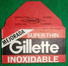 R@RIT@' LAMETTA DA BARBA CON BUSTINA*GILLETTE SUPER THIN *N.429