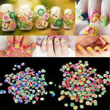 1000pcs DIY 3D Nail Art Fimo Canes Stick Rod Polymer Clay Stickers Tips Decor