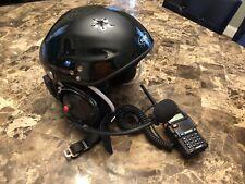 YUENY Paragliding Helmet with SENA Bluetooth and BAOFENG radio