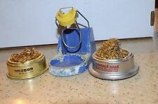 Hakko Soldering Station Iron Holder & Solder Tip Cleaner Lot of 3 599 423-404