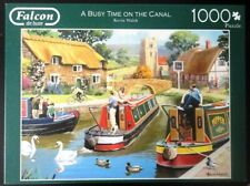PUZZLE FALCON de luxe - 1000 P. - A BUSY TIME ON THE CANAL - Kevin Walsh Complet