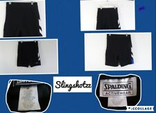"""*Spalding* Wmn's """"M"""" Black Cotton Blend Pull-on 'Fitted' Athletic Bermuda Shorts"""