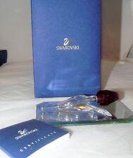 "Swarovski Crystal Red Tulip 3.5"" w/ Box, Booklet & Mirror New NIB"