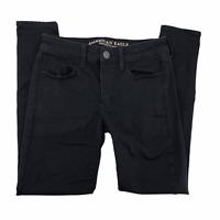 American Eagle Womens Black Jegging Skinny Jeans Size 6 Super Super Stretch AEO