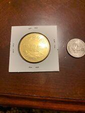 Santa Barbara Hotel Ca. The Golden Dollar Club Gold Tone Coin Unknown Metal
