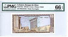 Lebanon ... P-61c ... 1 Livre ... 1980 ... *Gem UNC* ... PMG 66 EPQ