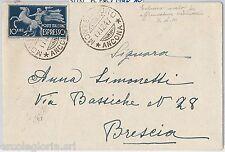 REPUBBLICA - STORIA POSTALE: ESPRESSI isolato usato come ordinario su BUSTA 1947