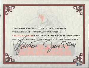 Ultimate Warrior signed 8x11 Certificate of Authenticity 6/3/2011 WWF WWE bas