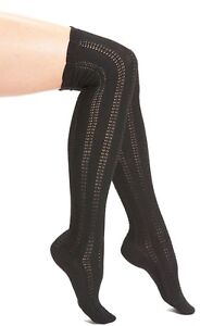 NWT Free People 'Fray' Openwork Knit Over the Knee Socks Retail $24
