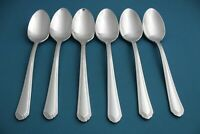 """6 Place Oval Soup Spoons Lenox ARCHWAY 18/10 Stainless 7 1/4"""""""