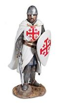 Templar Knight Battle Ready With Sword and Shield Figurine
