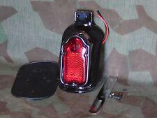 Knucklehead, Panhead Black Painted Tombstone Taillight. 12 Volt