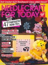 Needlecraft for Today Magazine Jan/Feb 86, Panda Parade, Sea Wall Hanging, Bears