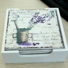 Unbranded Wooden Country Square Coasters