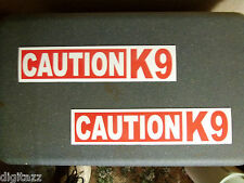 2x Magnetic CAUTION K9  Sign 2.75x11.5 Search Rescue Police Dog  Decal Sticker