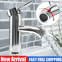 One Hole Single Handle Bathroom Sink Faucet Vessel Spout Basin Vanity Mixer Tap