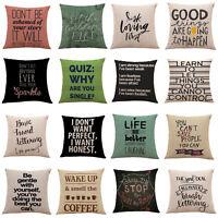 Retro Cotton Linen Square Throw Pillow Case Car Home Decor Cushion Blanket Cover