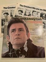 The World Of Johnny Cash Best Of Greatest Hits 2 X LP CBS 1st UK Press M-!!!!