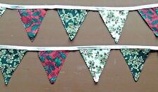 Christmas Bunting. Handmade Double Sided Fabric. Xmas designs. Approx. 3 Metres.