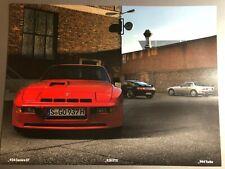 Porsche 944 Carrera GT 928 & 944 Trubo Showroom Advertising Sales  Poster RARE!!