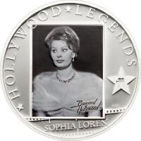 Cook Islands 2011 $5 Hollywood Legends II Sophia Loren 25g Silver Proof Coin