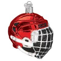 Old World Christmas HOCKEY HELMET (44113)X Glass Ornament w/ OWC Box