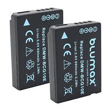 2x Akku für Panasonic DMW-BCG10E | 65242|TZ7 TZ31 TZ65 ZS1 ZS3 ZS10 ZS25 ZX1 ZX3