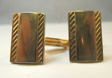 W/ Striped Design * Gold Tone Swank Cuff Links