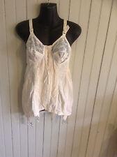 Very Vintage youth line open bottom shaper corset girdle w/ 6 garters sz 34c