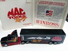 WINROSS DIECAST TRUCK MAC TOOLS RACING LIMITED 1 OF 4800 RARE