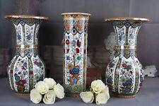 DELFT Polychrome Pottery set Vases center vase piece PETRUS REGOUT marked
