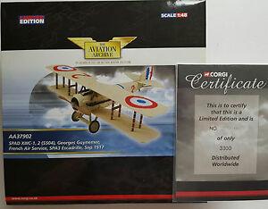 Corgi Aviation Spad XIIIC-1 French Air Serv. AA37902 Certificate No 3300 of 3300