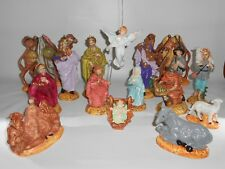 Vintage Atlantic Mold Nativity Set 16 Piece medium size Excellent Condition 1981