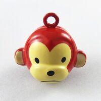 Wholesales 10pcs Brass Cute Monkey Jingle Bells Pendant Jewellry Findings 51924