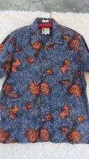 ME Sport Hawaiian Shirt Men's XL Blue Orange 100% Cotton MINT