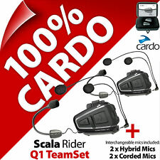 Cardo Scala Rider Q1 TeamSet Bluetooth Motorcycle Helmet Intercom Headset