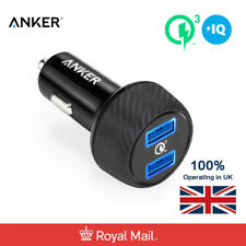 Anker Car Charger 39W PowerDrive Speed 2 Quick Charge 3.0 2-port USB Charger UK