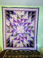 Quilted Handmade Beautiful Blanket Wall Hanging Art Decor Quilt 70 x 57