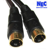 10M Metre SVHS S-Video 4Pin Mini Din Male to Male TV PC Lead Cable CabledUp UK