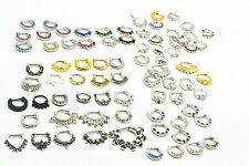 LOT100pcs Nose Septum Clicker   Lip Nipple Ear Piercing Cuff Ring Cartilage MIX