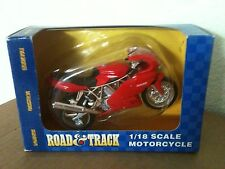NEW MAISTO ROAD & TRACK DUCATI MOTORCYCLE DIE CAST 1:18