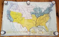 Denoyer-Geppert Map Mexican War and Compromise Of 1850 roll